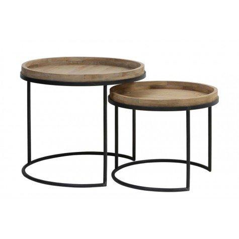 Copan sivupöytä setti metalli/puu, II-laatu