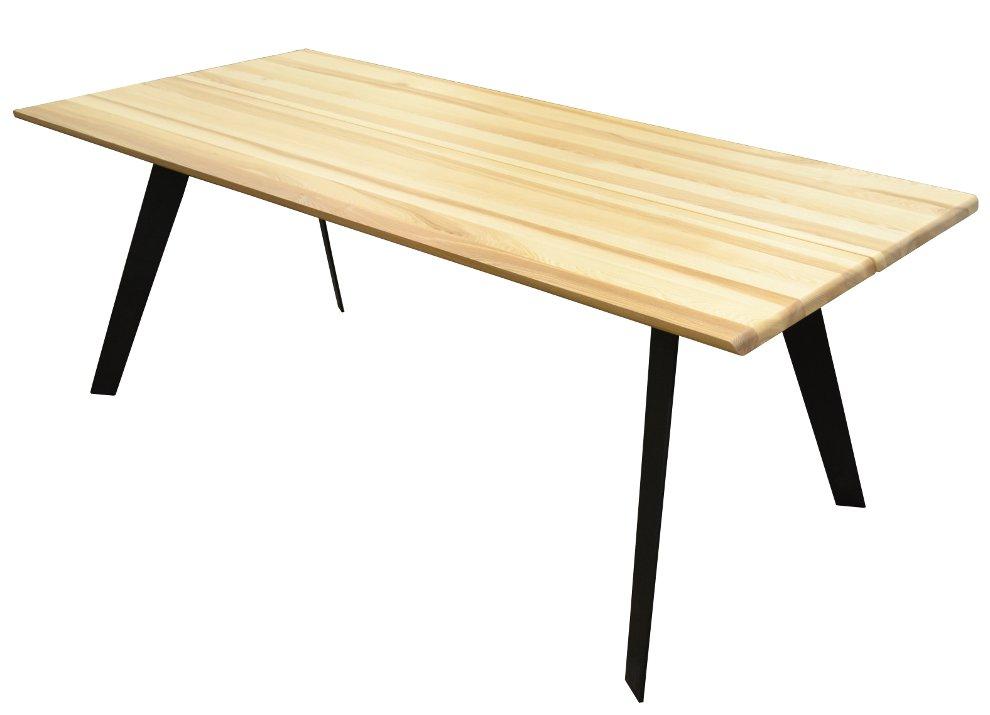 Aini saarnipöytä 200 cm, musta metallijalka