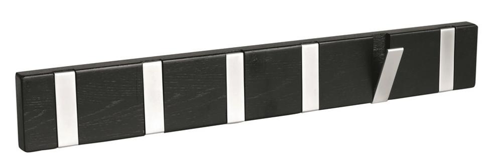 Confetti listanaulakko 6 avattavaa koukkua musta, Rowico