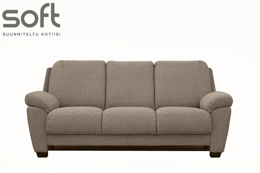 Anette 3-ist. sohva Board tai Happy kangas