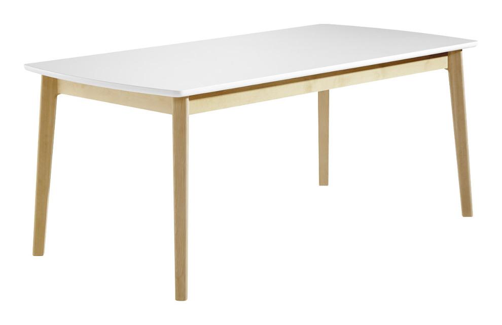 Olivia ruokapöytä 180x90 koivu/valkoinen