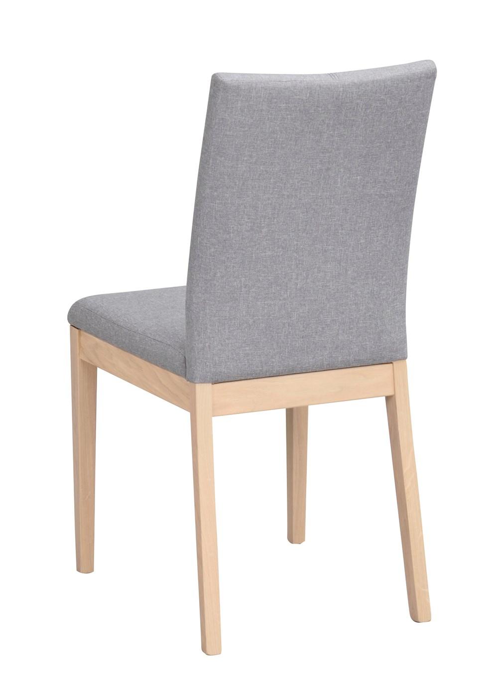 Amanda tuoli vaaleanharmaa/valkolakattu tammi, Rowico