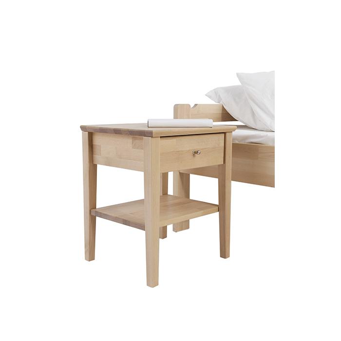 Kuusamo yöpöytä 52x41x44cm lakattu koivu
