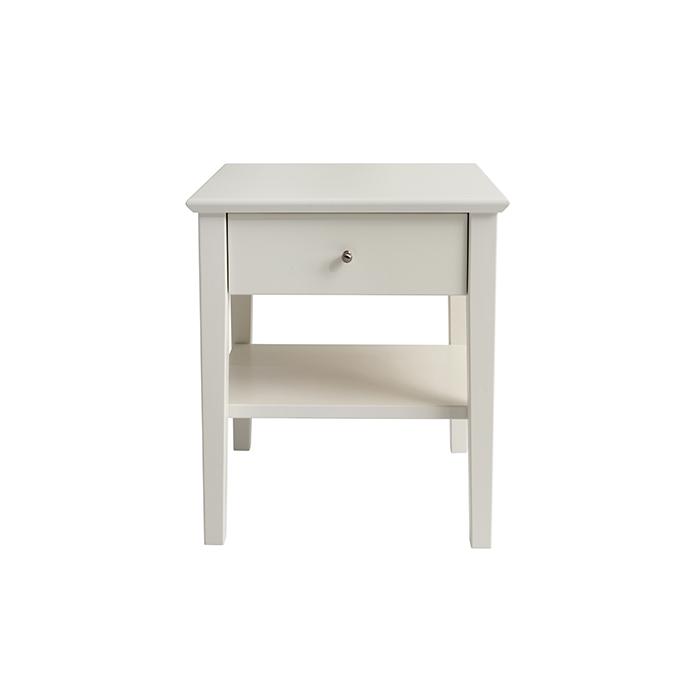 Kuusamo yöpöytä 52x41x44cm valkoinen