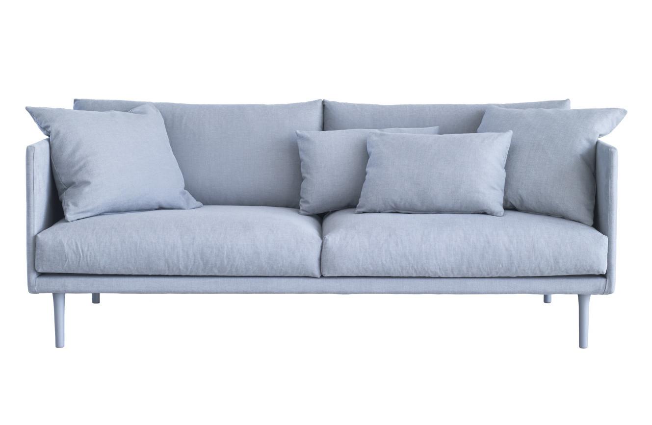Slim 202 sohva lisätyynyillä Nino tai Resto kankaalla, Shapes