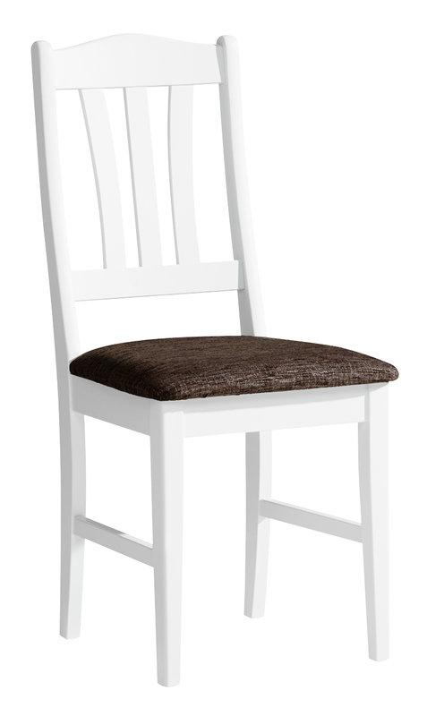 Viktoria tuoli valkoinen/Klevas kuvio ruskea