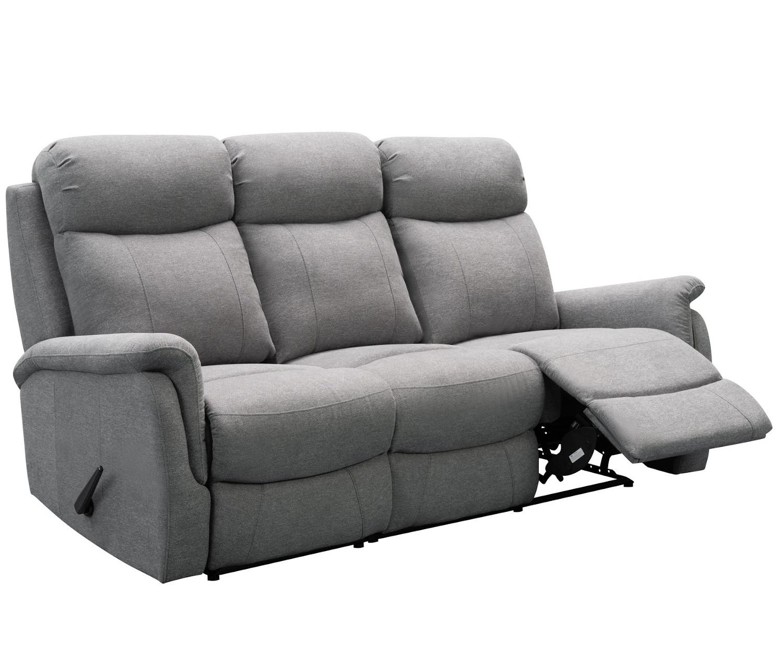 Rubin 3-istuttava reclinersohva, harmaa Friday kangas, Tenstar