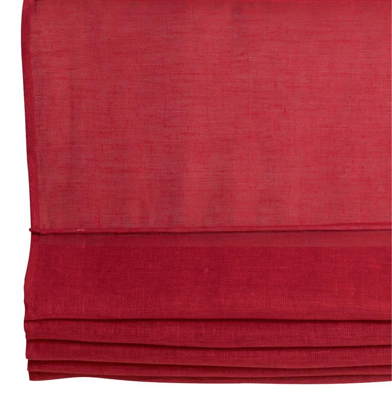Laskosverho 80x170 punainen pellava