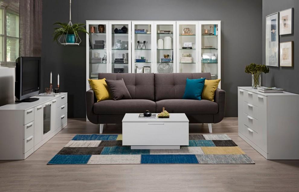 Olivia-3 sohva, istuin HR35, Inari ja Sawana kankailla