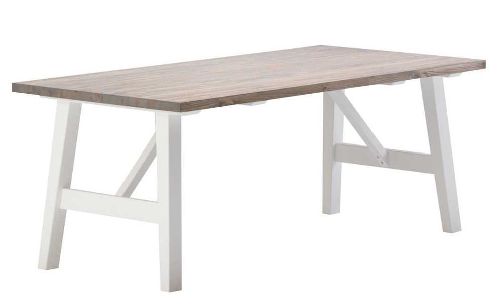Rustiikki ruokapöytä 190x95 valkoinen/kelo