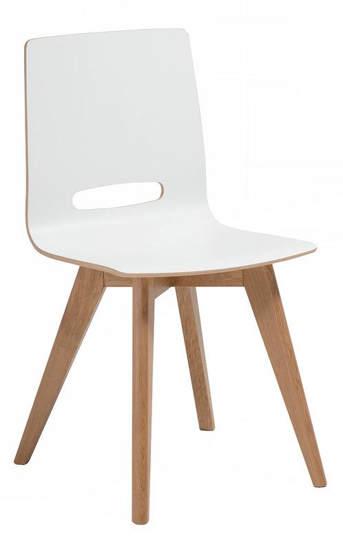Eelis tuoli valkoinen/tammi