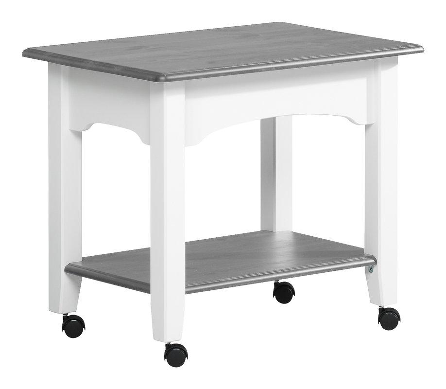 Viktoria tarjoilupöytä valkoinen/kuultoharmaa