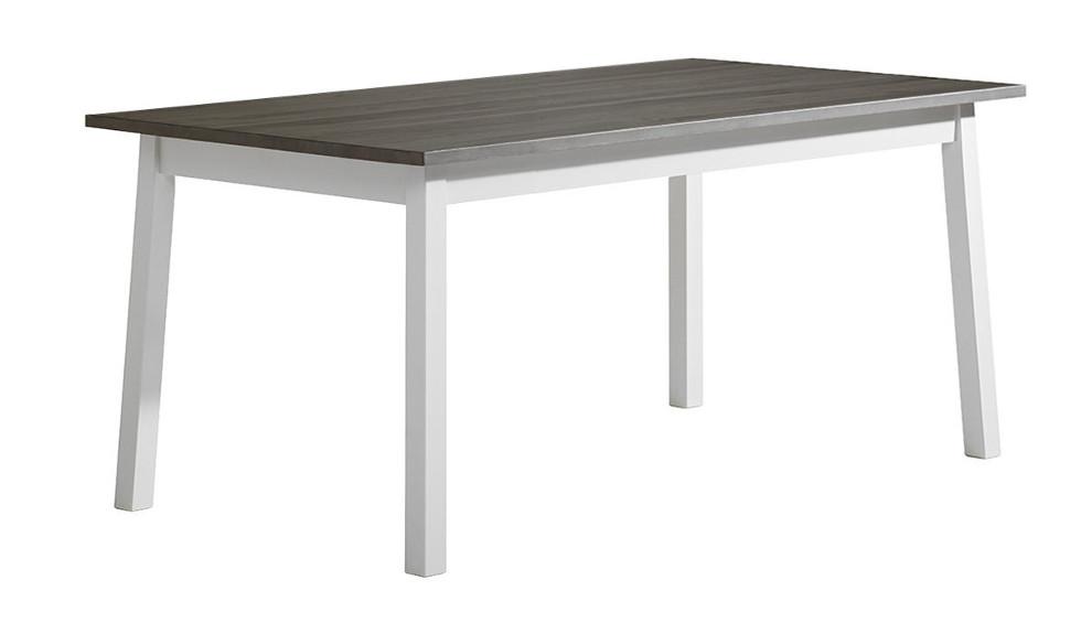 Sara ruokapöytä 140x85 valkoinen/kuultoharmaa