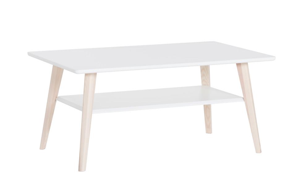 Kodikas sohvapöytä 100x60 valkoinen/saarni