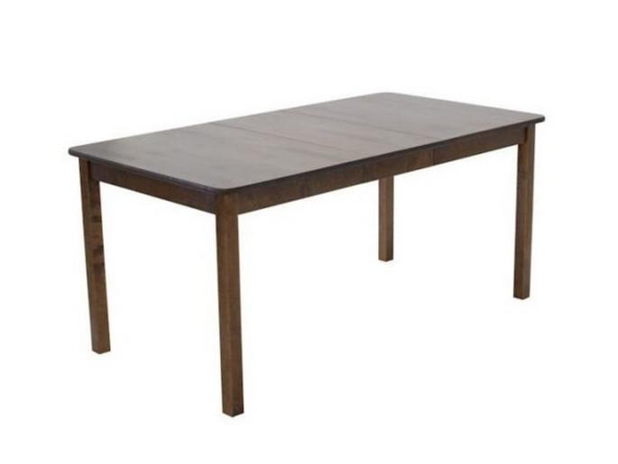 Sanna ruokapöytä 125x85+35cm pähkinä