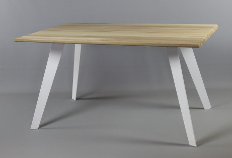 Aini saarnipöytä 200 cm, valkoinen metallijalka