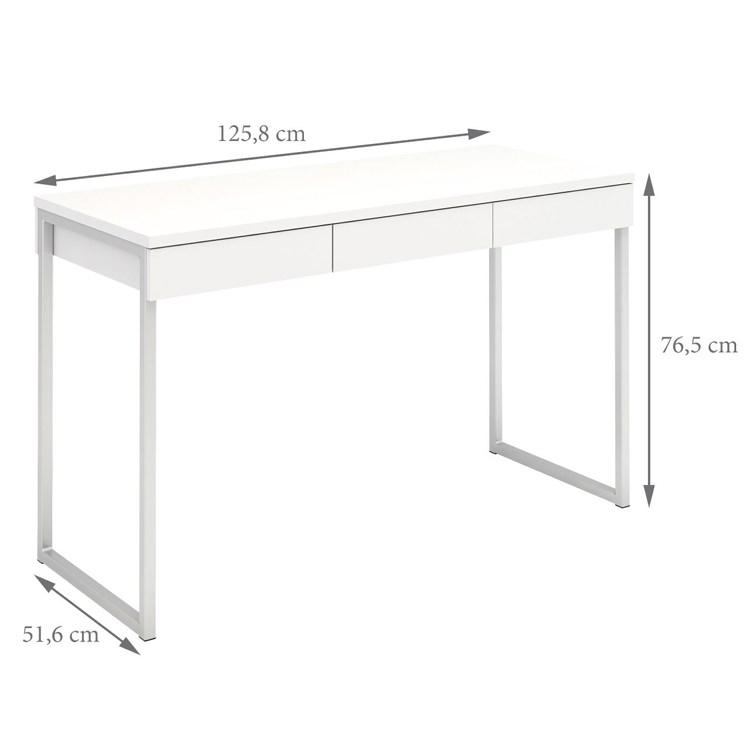 80106 Function Plus työpöytä 3-laatikkoa valkoinen