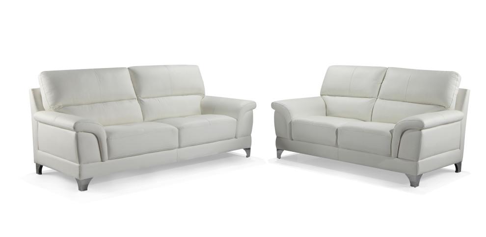 Oxford 2+3-istuttavat sohvat valkoinen nahka/kn, Tenstar