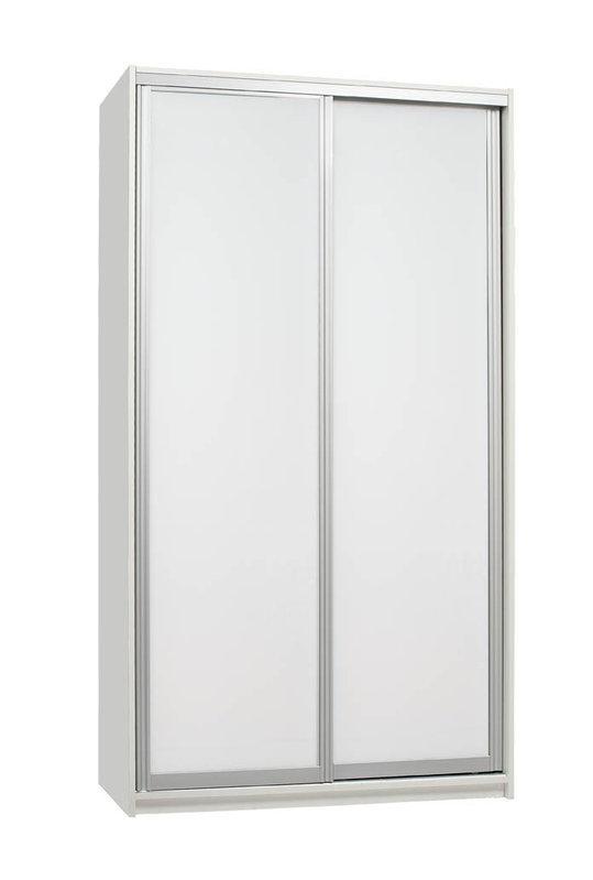 Iida 120 komero valkoisilla lasiovilla, Hiipakka