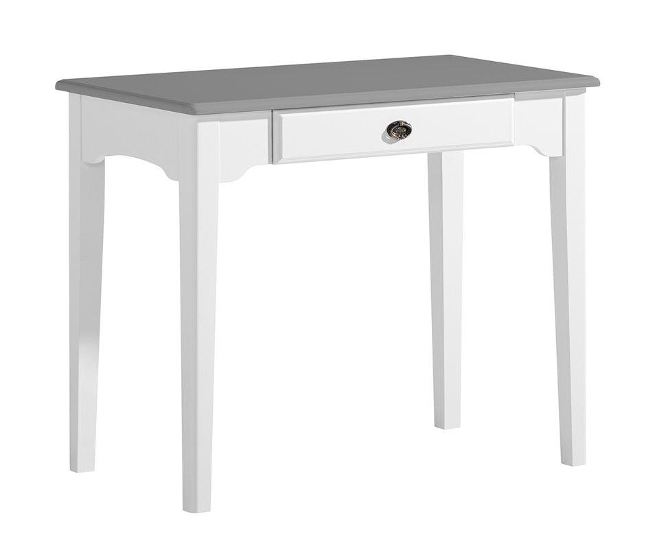 Viktoria Kirjoituspöytä 90x50 valkoinen/kuultoharmaa