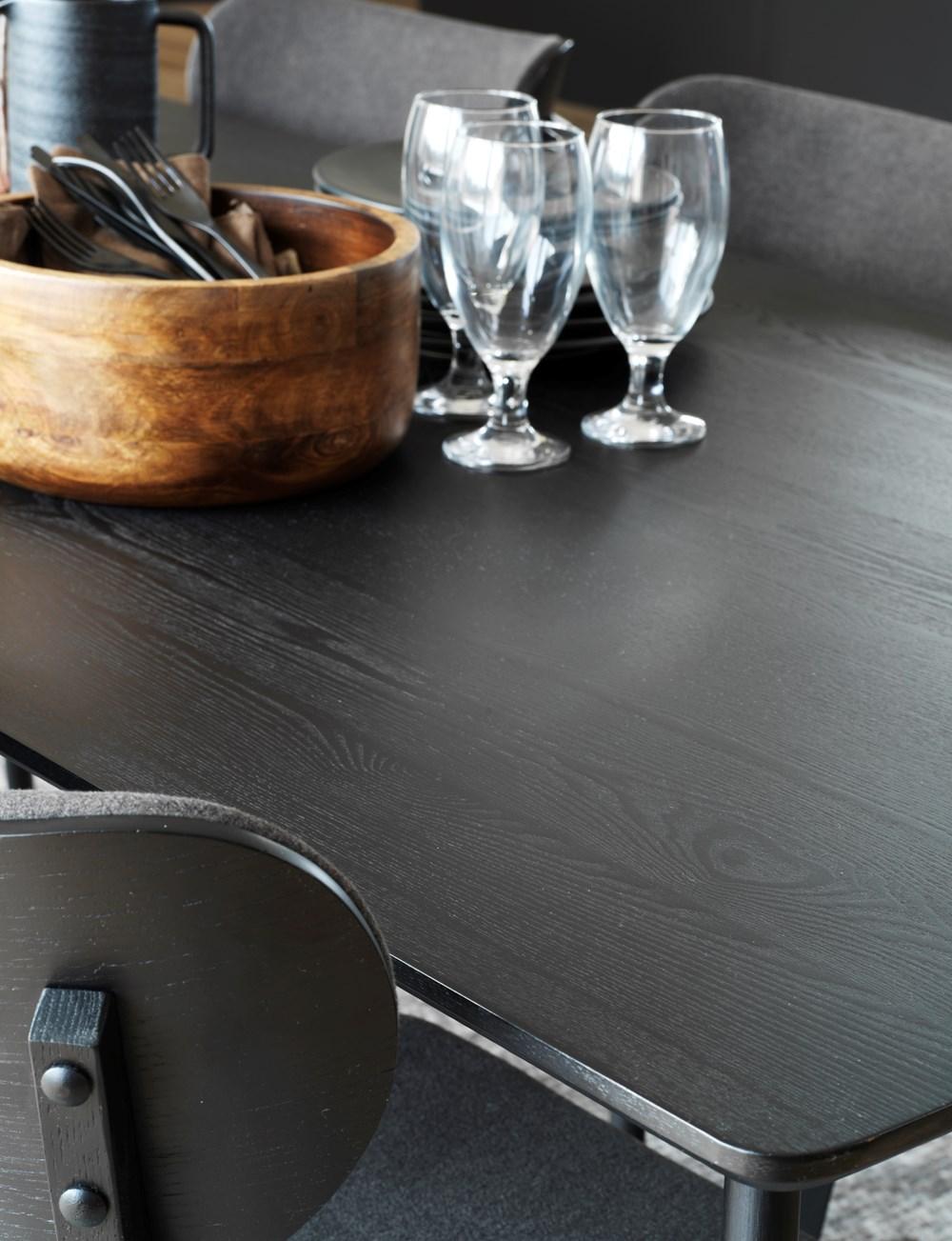 Yumi ruokapöytä 190x90 mustapetsattu, Rowico