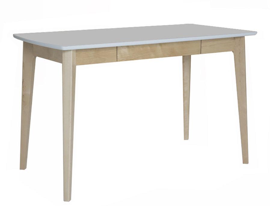 Olivia työpöytä 120x61 valkoinen/ koivu