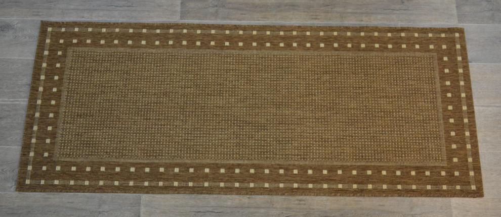 Ruutu matto 80x200cm tobac
