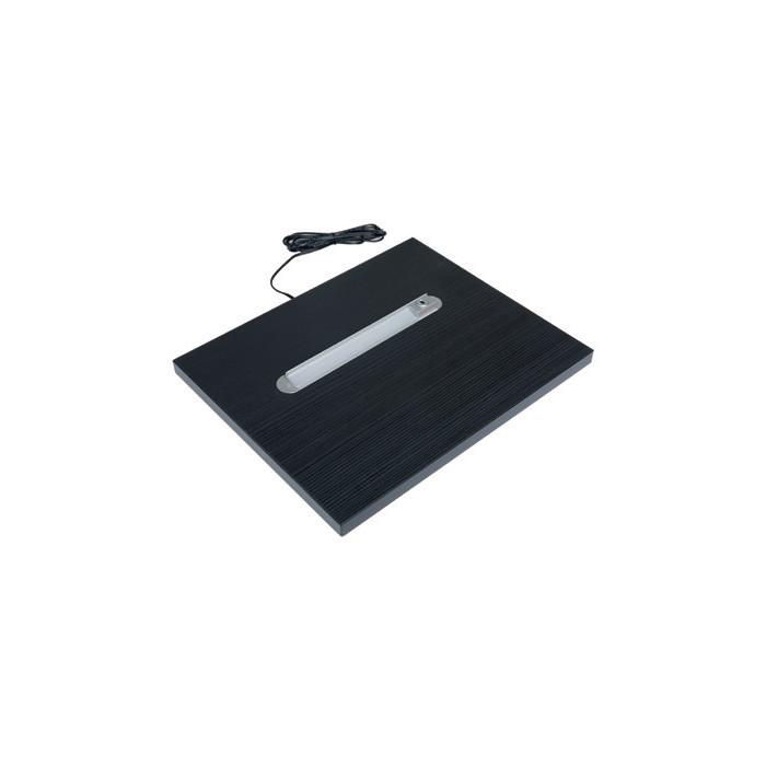 Black sängynpäädyn hyllylevy LED-valaisimella 2kpl