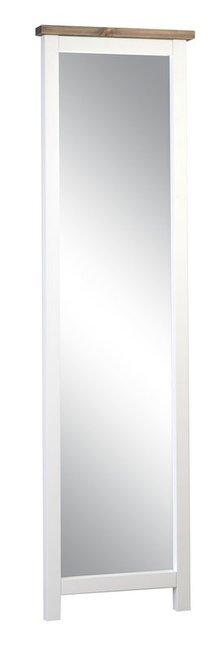 Rustiikki peili 190 x 55 valkoinen/kelo