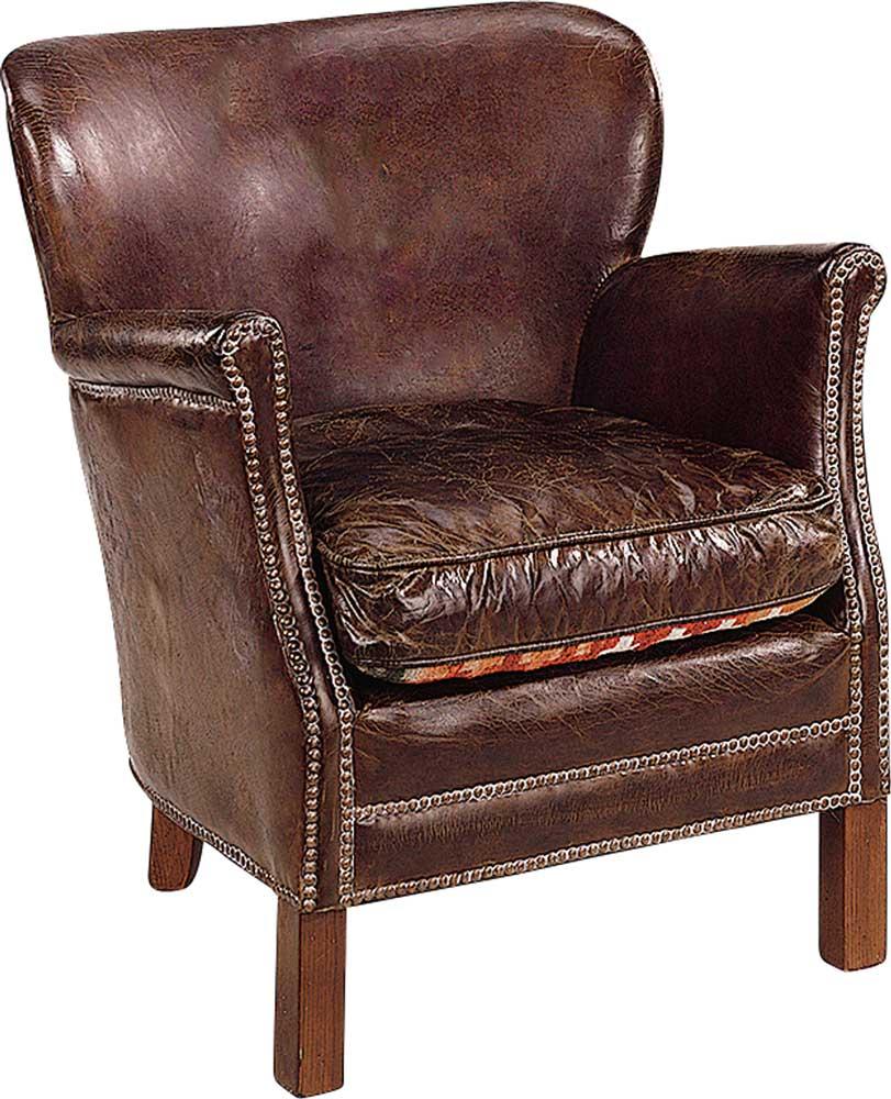 Professor nojatuoli antiikkinahka ruskea, Artwood