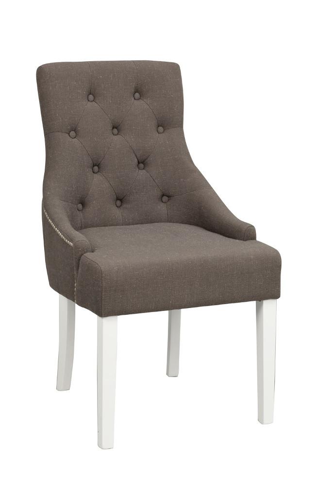 Stella tuoli harmaa kangas / valkoiset jalat, Rowico