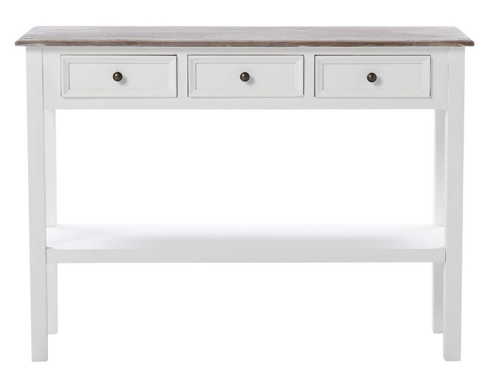 Sevilla 10 sivupöytä valkoinen/harmaa