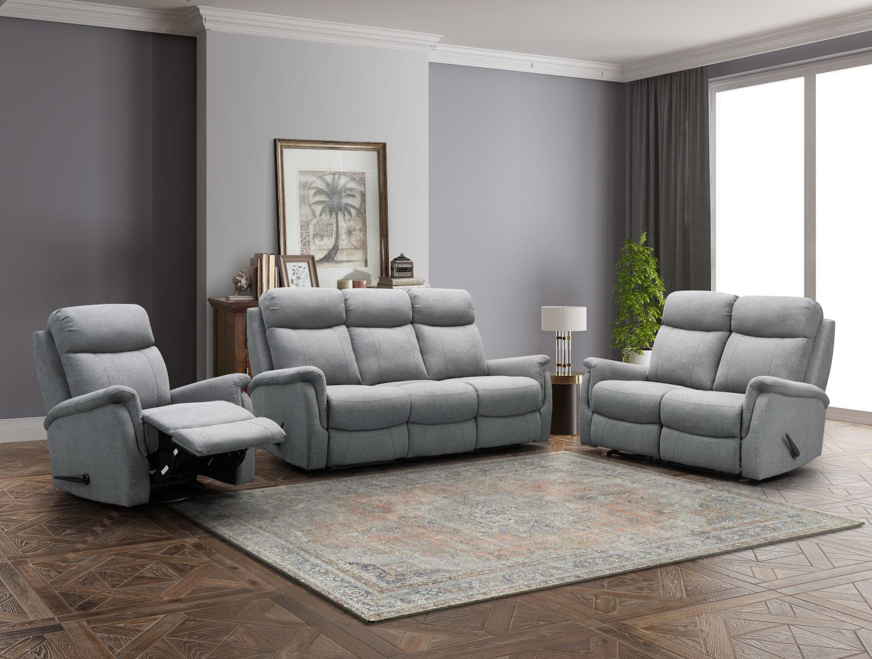 Rubin recliner tuoli, harmaa Friday kangas, Tenstar