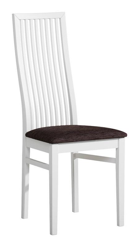 Julia tuoli korkea valkoinen/Klevas ruskea MALLIKPL
