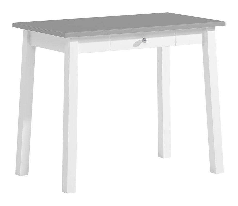 Sara kirjoituspöytä 90x50 valkoinen/kuultoharmaa