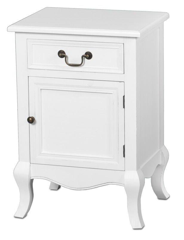 Romantic yöpöytäkaappi oikea rustik valkoinen