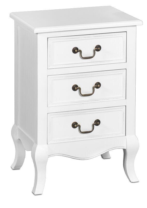 Romantic yöpöytä 3-ltk rustik valkoinen, Tenstar
