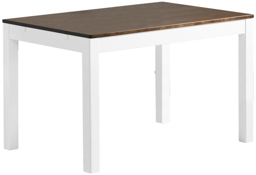 Emilia pöytä 120x80 valkoinen/ruskea