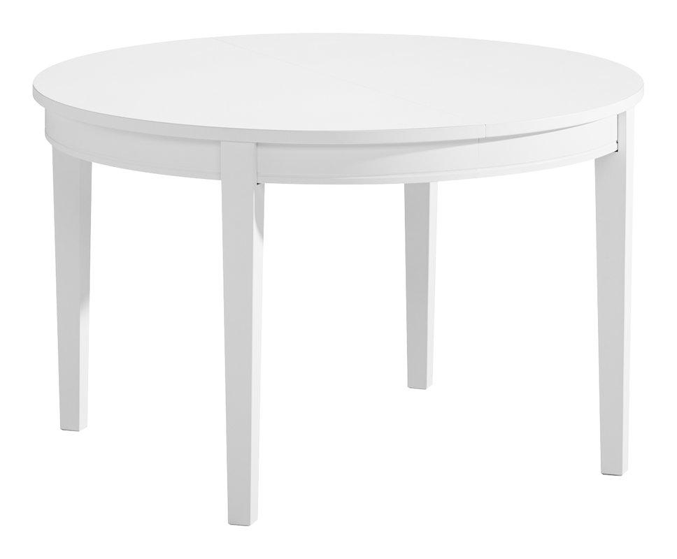 Greta ruokapöytä 120+45+45 pyöreä valkoinen