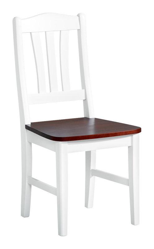 Viktoria tuoli valkoinen/pähkinä