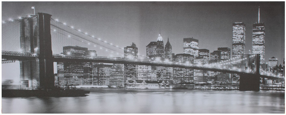 Canvastaulu Brooklyn Bridge BW 40 x 100 cm, Tenstar