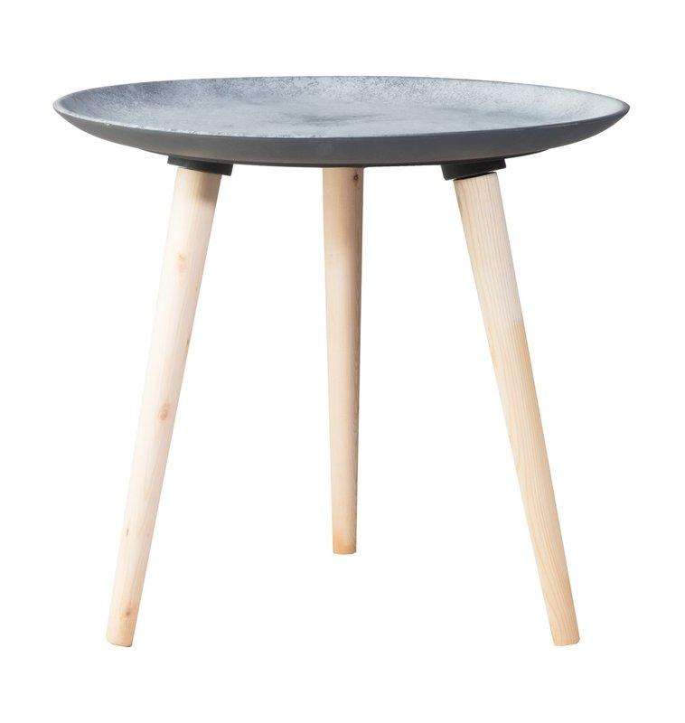 Lumo sivupöytä 55 cm harmaa/luonnonväri