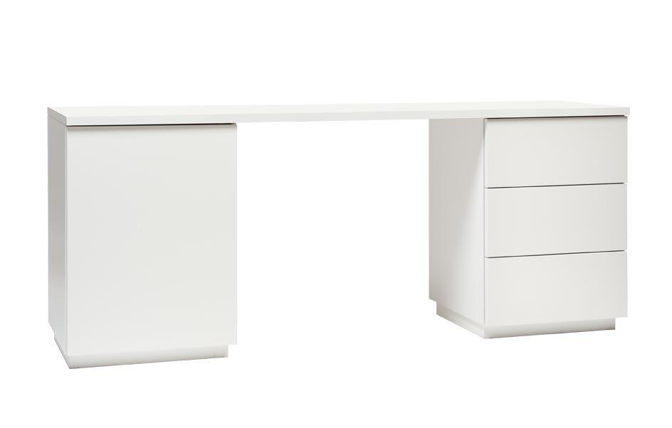 Anton työpöytä 160 cm, valkoinen