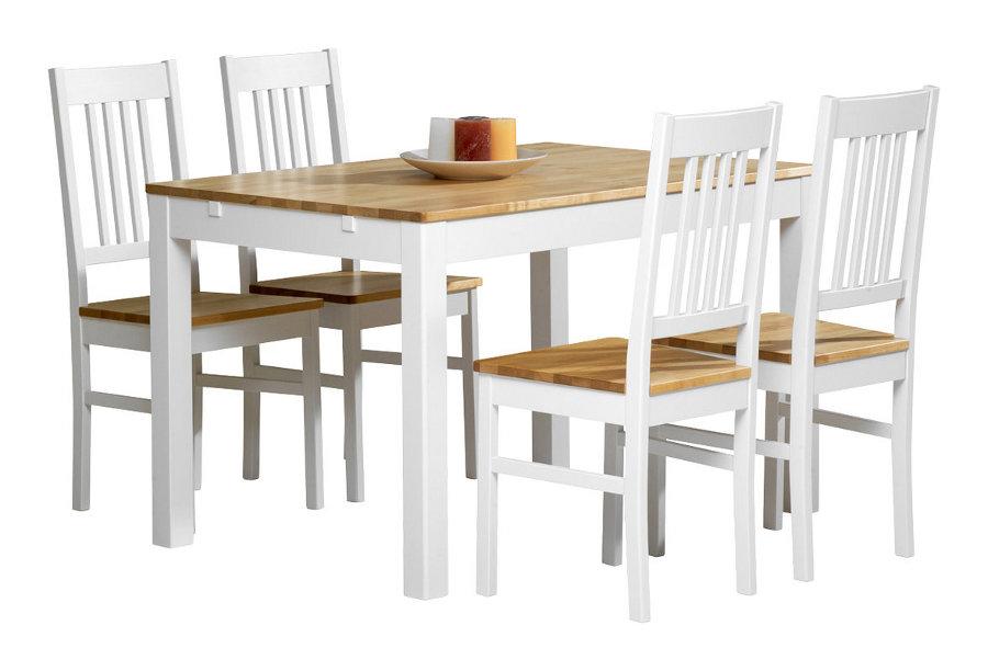 Emilia pöytä 120x80 valkoinen/lv koivu