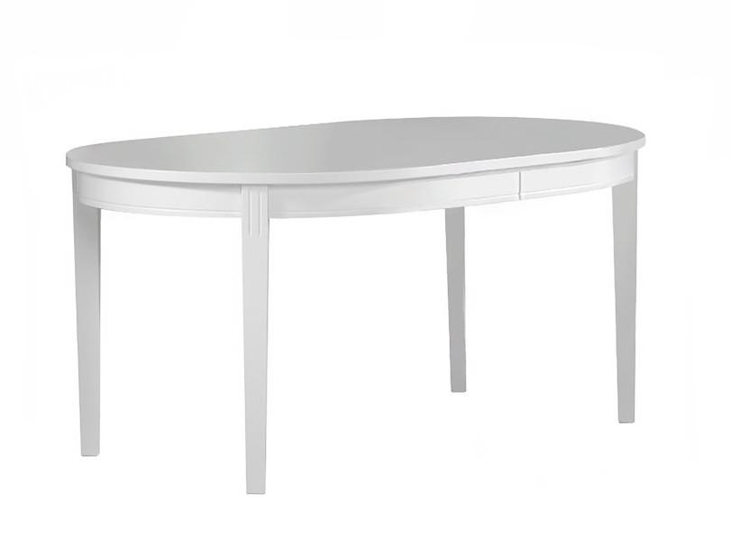 Ida ovaalipöytä 100x160+45 valkoinen