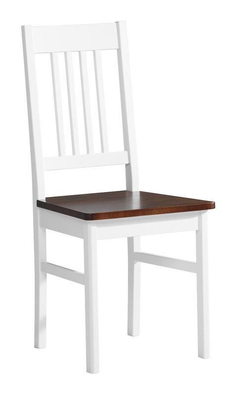 Emilia tuoli valkoinen/ruskea