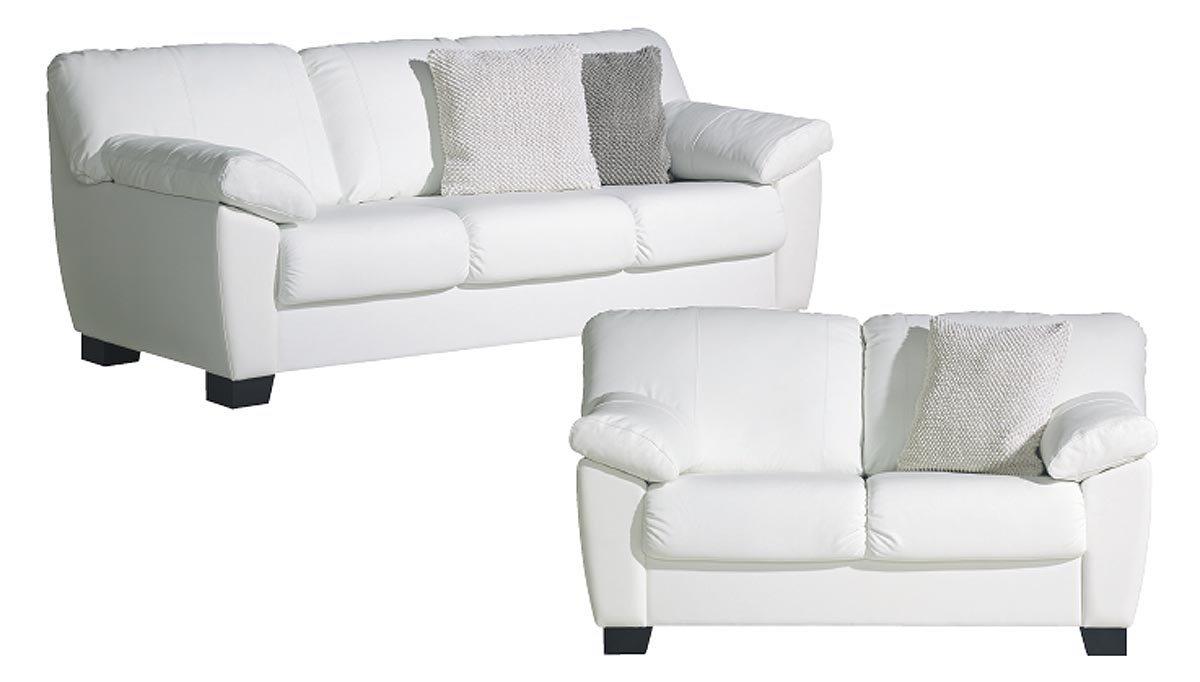 Otso 3+2-ist. sohvat nahka/kn, valkoinen tai musta