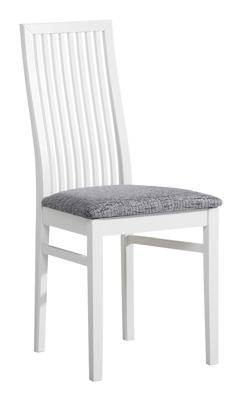 Julia tuoli valkoinen/harmaa kuviollinen Klevas