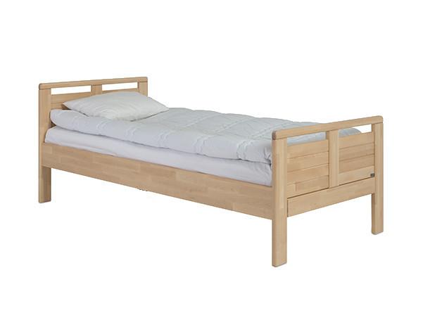 Seniori sänky 90x200, madallettu, lakattu koivu