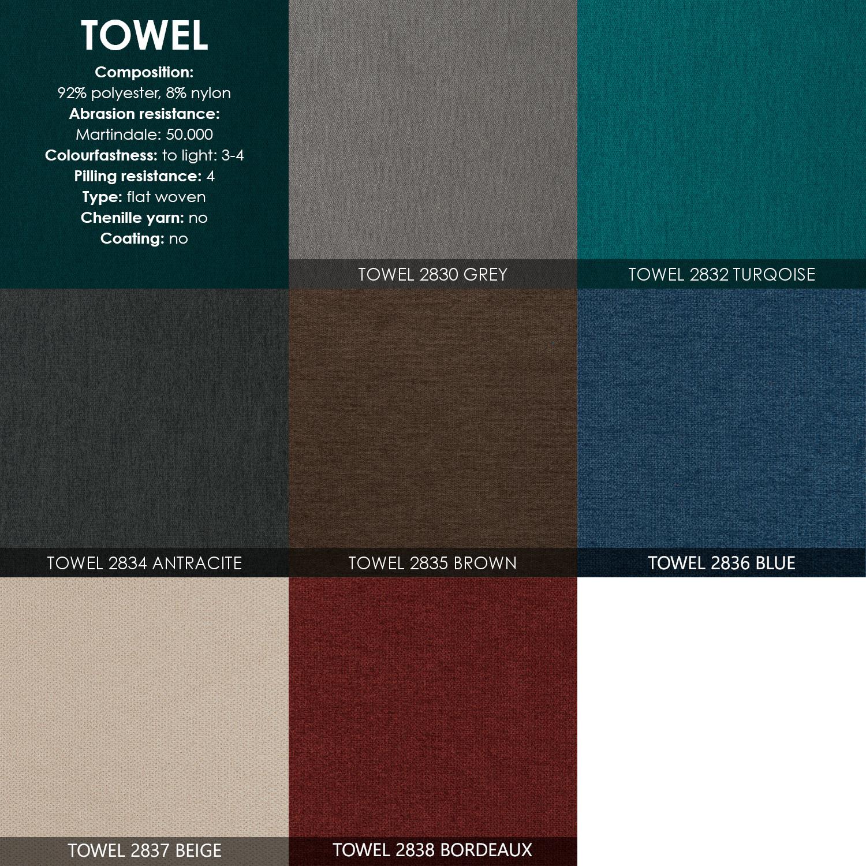 Skandia 2613 kulmasohva, Towel kangas